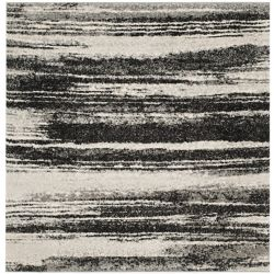 Safavieh Retro Aisha Dark Grey / Light Grey 6 ft. x 6 ft. Indoor Square Area Rug