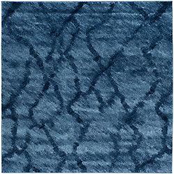 Safavieh Retro Kire Blue / Dark Blue 6 ft. x 6 ft. Indoor Square Area Rug