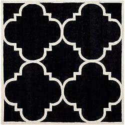 Safavieh Chatham Abe Black / Ivory 7 ft. x 7 ft. Indoor Square Area Rug