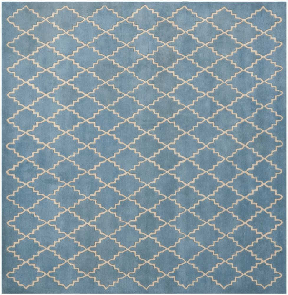 Safavieh Chatham Adam Blue Grey 7 ft. x 7 ft. Indoor Square Area Rug