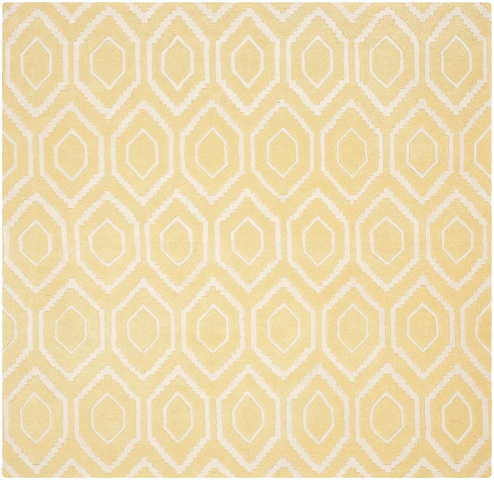 Chatham Beau Light Gold / Ivory 7 ft. x 7 ft. Indoor Square Area Rug