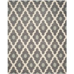 Safavieh Chatham Calvin Ivory / Dark Grey 7 ft. x 7 ft. Indoor Square Area Rug