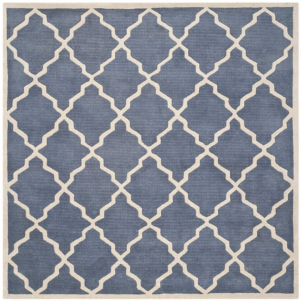 Chatham Judy Grey 7 ft. x 7 ft. Indoor Square Area Rug