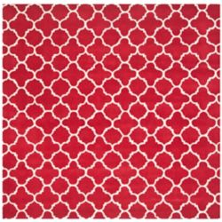 Safavieh Chatham Leslie Red / Ivory 7 ft. x 7 ft. Indoor Square Area Rug