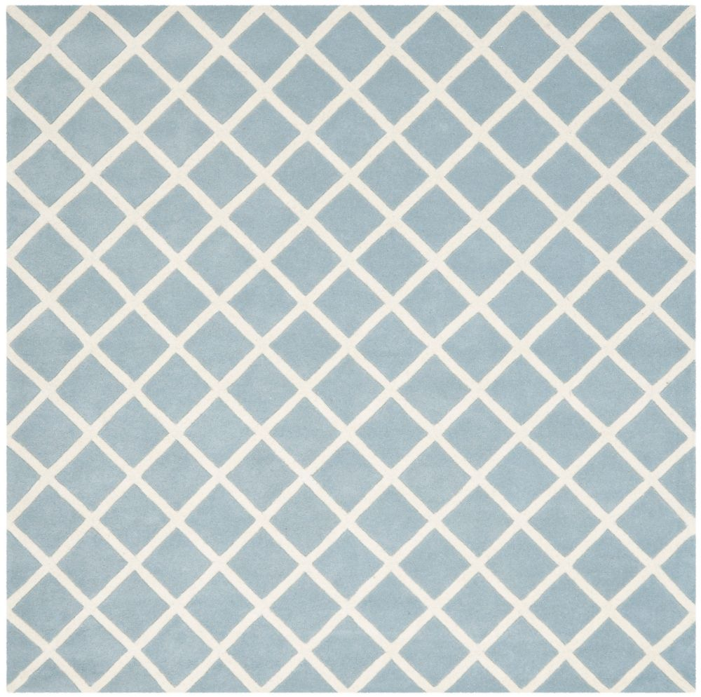 Safavieh Chatham Lily Blue / Ivory 7 ft. x 7 ft. Indoor Square Area Rug