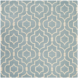 Safavieh Chatham Romain Blue / Ivory 7 ft. x 7 ft. Indoor Square Area Rug