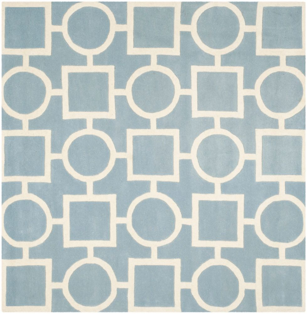 Safavieh Chatham Sally Blue / Ivory 7 ft. x 7 ft. Indoor Square Area Rug