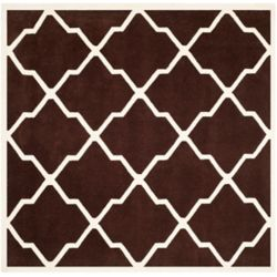Safavieh Chatham Stephen Dark Brown / Ivory 7 ft. x 7 ft. Indoor Square Area Rug