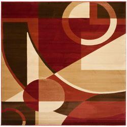 Safavieh Porcello Ash Red / Multi 7 ft. x 7 ft. Indoor Square Area Rug