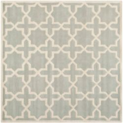 Safavieh Chatham Carlton Grey / Ivory 8 ft. 9-inch x 8 ft. 9-inch Indoor Square Area Rug