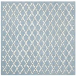 Safavieh Chatham Philip Blue / Ivory 8 ft. 9-inch x 8 ft. 9-inch Indoor Square Area Rug