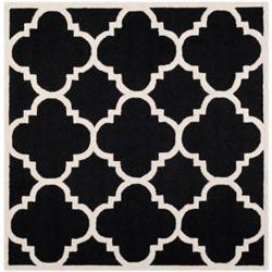 Safavieh Cambridge Amias Black / Ivory 8 ft. x 8 ft. Indoor Square Area Rug