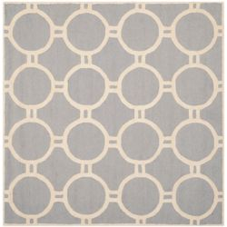 Safavieh Cambridge Colin Silver / Ivory 8 ft. x 8 ft. Indoor Square Area Rug