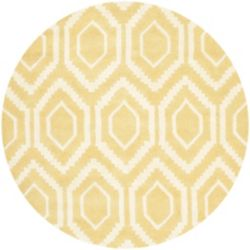Safavieh Chatham Beau Light Gold / Ivory 4 ft. x 4 ft. Indoor Round Area Rug