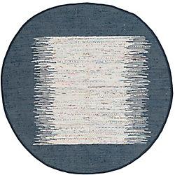 Safavieh Montauk Delroy Ivory / Navy 4 ft. x 4 ft. Indoor Round Area Rug