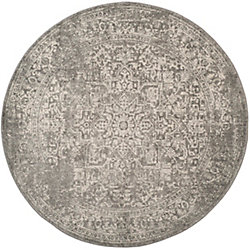 Safavieh Evoke Eric Silver / Ivory 5 ft. 1-inch x 5 ft. 1-inch Indoor Round Area Rug