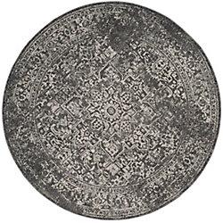 Safavieh Evoke Eric Grey / Ivory 5 ft. 1-inch x 5 ft. 1-inch Indoor Round Area Rug