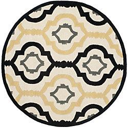 Safavieh Chatham Bree Ivory / Multi 5 ft. x 5 ft. Indoor Round Area Rug