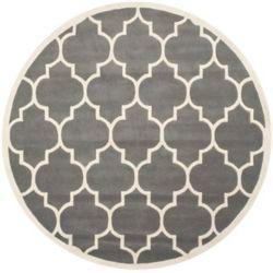 Safavieh Chatham Caprice Dark Grey / Ivory 5 ft. x 5 ft. Indoor Round Area Rug