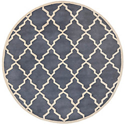 Safavieh Chatham Judy Grey 5 ft. x 5 ft. Indoor Round Area Rug
