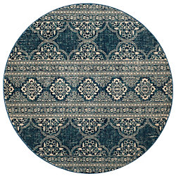 Safavieh Evoke Edwin Royal / Ivory 6 ft. 7-inch x 6 ft. 7-inch Indoor Round Area Rug