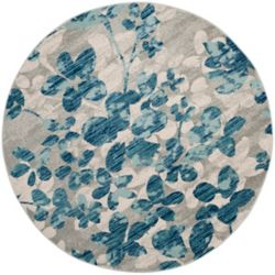 Safavieh Evoke Victor Grey / Light Blue 6 ft. 7-inch x 6 ft. 7-inch Indoor Round Area Rug