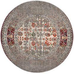Safavieh Monaco Flynn Grey / Ivory 6 ft. 7-inch x 6 ft. 7-inch Indoor Round Area Rug