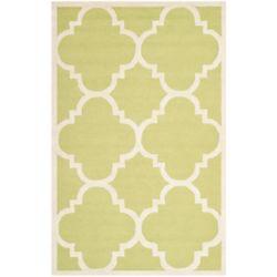 Safavieh Tapis d'intérieur, 5 pi x 8 pi, Cambridge Amias, vert / ivoire