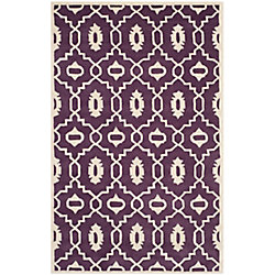 Safavieh Chatham Chloe Purple / Ivory 5 ft. x 8 ft. Indoor Area Rug