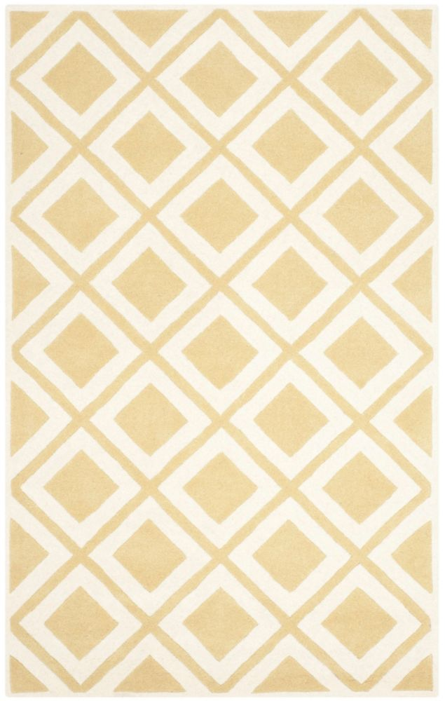 Safavieh Chatham Dom Gold / Ivory 5 ft. x 8 ft. Indoor Area Rug
