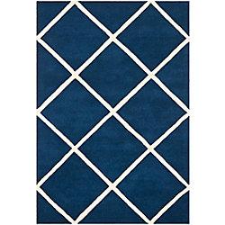 Safavieh Chatham Peter Dark Blue / Ivory 5 ft. x 8 ft. Indoor Area Rug