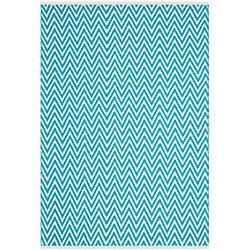 Safavieh Montauk Brent Turquoise / Ivory 5 ft. x 8 ft. Indoor Area Rug