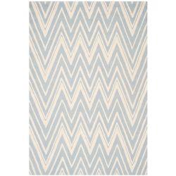 Safavieh Tapis d'intérieur, 6 pi x 9 pi, Cambridge Chenny, bleu / ivoire