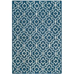 Safavieh Cambridge Heng Navy Blue / Ivory 6 ft. x 9 ft. Indoor Area Rug