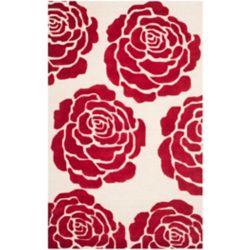 Safavieh Tapis d'intérieur, 6 pi x 9 pi, Cambridge Rem, ivoire / rouge