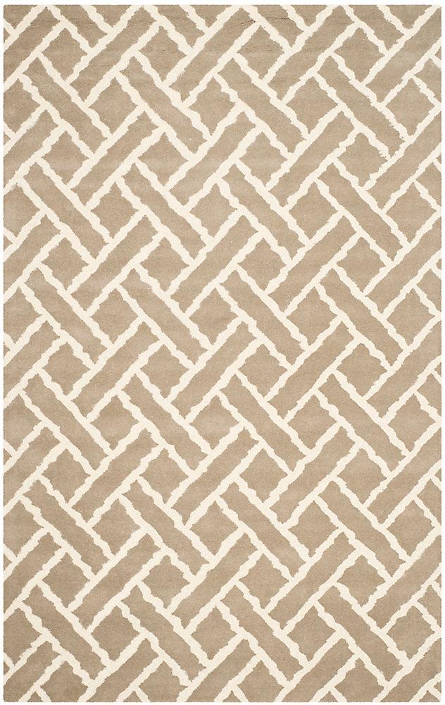 Tapis d'intérieur, 6 pi x 9 pi, Chatham Alejandro, beige / ivoire