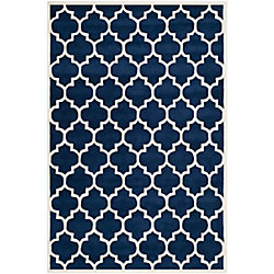Safavieh Chatham Candace Dark Blue / Ivory 6 ft. x 9 ft. Indoor Area Rug