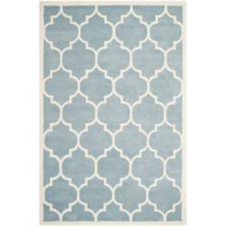 Safavieh Tapis d'intérieur, 6 pi x 9 pi, Chatham Caprice, bleu / ivoire