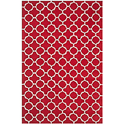 Safavieh Chatham Leslie Red / Ivory 6 ft. x 9 ft. Indoor Area Rug