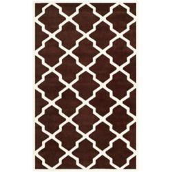 Safavieh Tapis d'intérieur, 6 pi x 9 pi, Chatham Stephen, brun foncé / ivoire