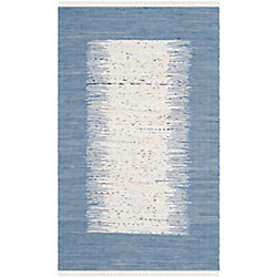 Safavieh Montauk Delroy Ivory / Dark Blue 6 ft. x 9 ft. Indoor Area Rug