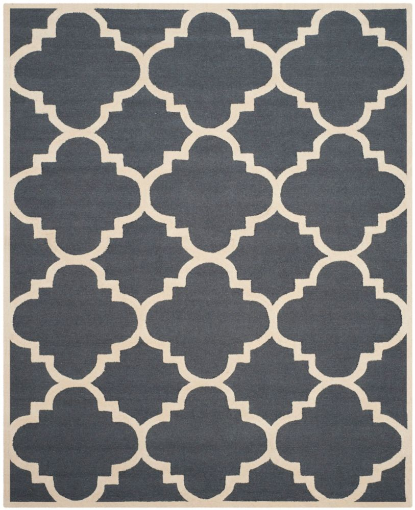Safavieh Cambridge Amias Dark Grey / Ivory 8 ft. x 10 ft. Indoor Area Rug