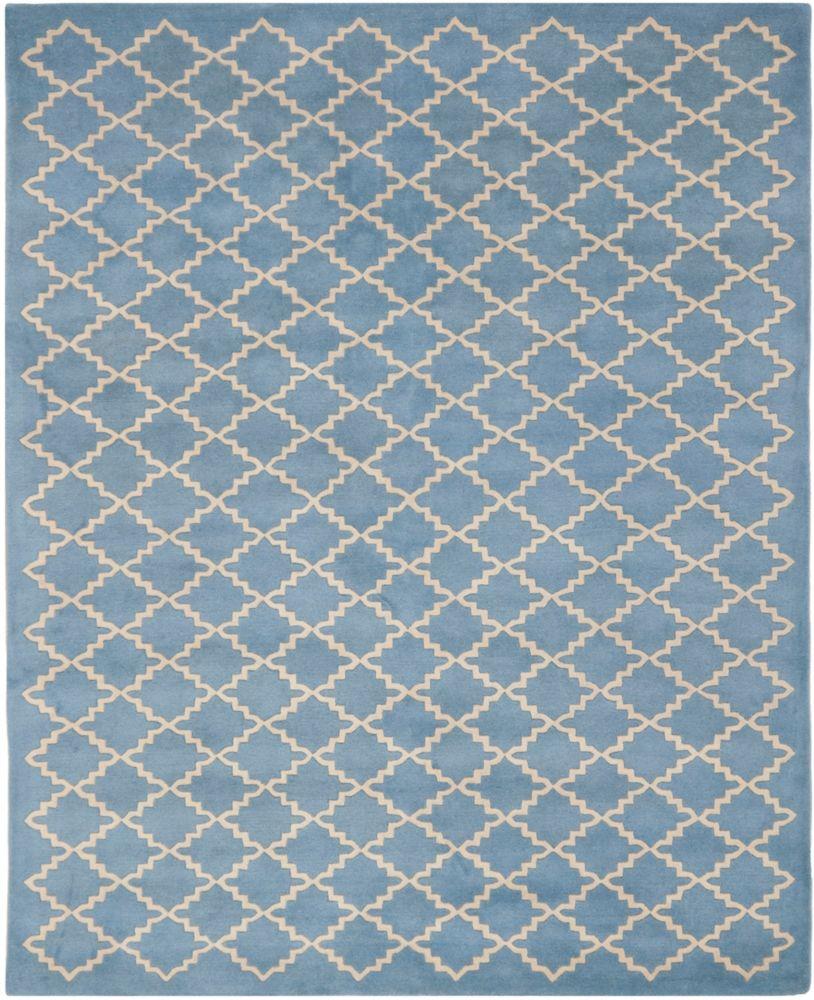 Safavieh Chatham Adam Blue Grey 8 ft. x 10 ft. Indoor Area Rug