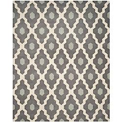 Safavieh Chatham Calvin Ivory / Dark Grey 8 ft. x 10 ft. Indoor Area Rug