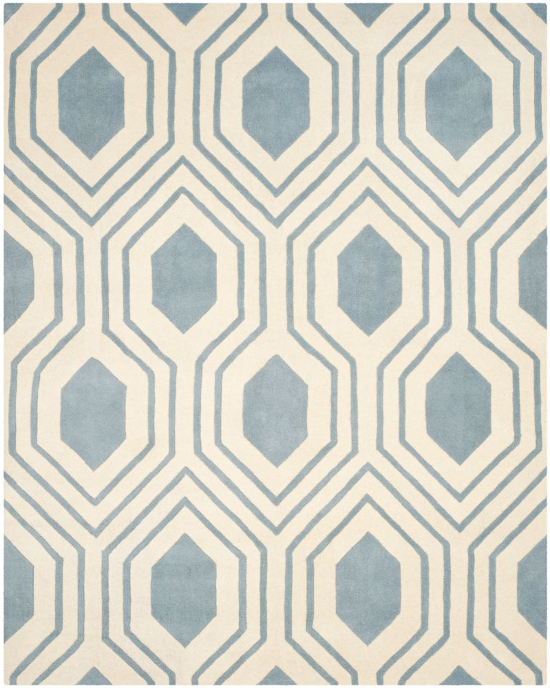 Safavieh Chatham Dorian Blue / Ivory 8 ft. x 10 ft. Indoor Area Rug