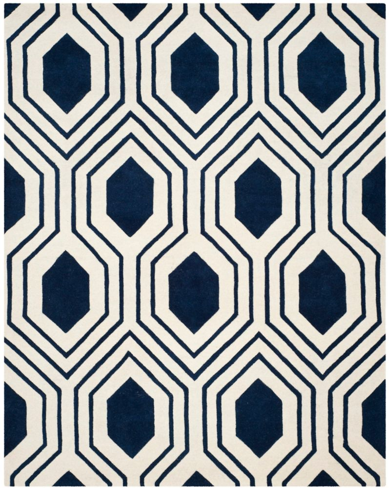 Safavieh Chatham Dorian Dark Blue / Ivory 8 ft. x 10 ft. Indoor Area Rug