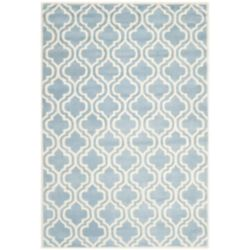 Safavieh Chatham Robin Blue / Ivory 8 ft. x 10 ft. Indoor Area Rug