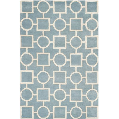 Safavieh Chatham Sally Blue / Ivory 8 ft. x 10 ft. Indoor Area Rug