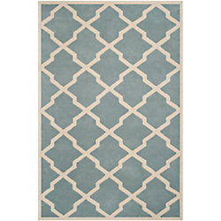 Safavieh Chatham Stephen Blue / Ivory 8 ft. x 10 ft. Indoor Area Rug