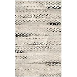 Safavieh Retro Darius Cream / Grey 8 ft. x 10 ft. Indoor Area Rug